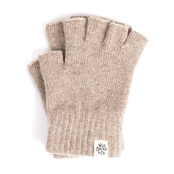 WILDBRICKS - FINGERLESS GLOVES (beige)