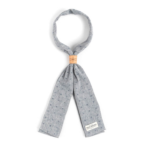 WILDBRICKS - CHAMBRAY DOT SCARF (blue)