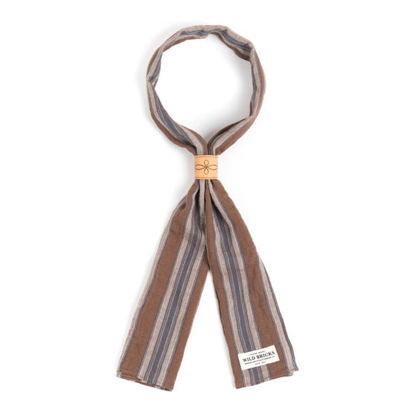 WILDBRICKS - VIN STRIPE SCARF (brown)