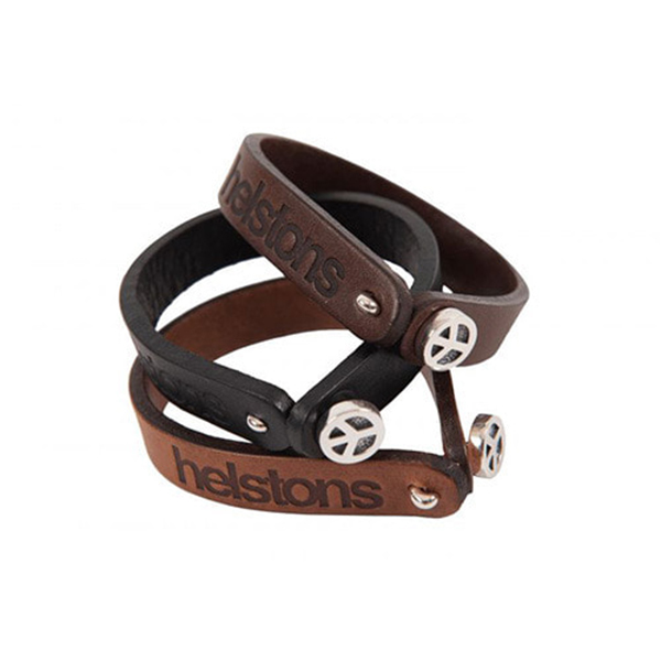 HELSTONS LEATHER BRACELET -  PEACE