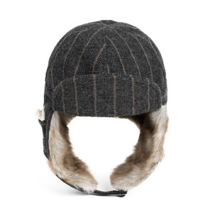 WILDBRICKS - HERRINGBONE TRAPPER HAT(grey)