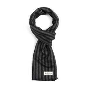 WILDBRICKS - HOMESPUN STRIPE STOLE (black)