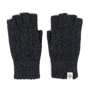 WILDBRICKS - CABLE FINGERLESS GLOVES (charcoal)