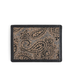 WILDBRICKS - PAISLEY CARD CASE (black)