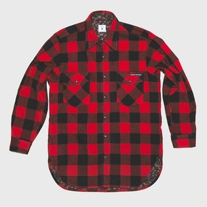 [모빈스알 셔츠] MOVINS.R - AQUILA WOOL SHIRTS RED PLAID
