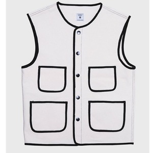 [모빈스알 데님 베스트] MOVINS.R - AQUILA BINDING DENIM VEST IVORY