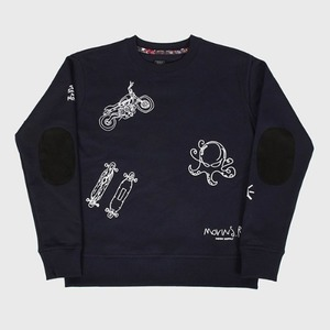 [모빈스알 맨투맨] MOVINS.R - AXIO LUX EMBO TOP NAVY