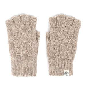 WILDBRICKS - CABLE FINGERLESS GLOVES (beige)