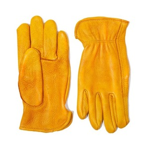 AGINGCCC X CAIMAN KOREA - HAND DYEING DRIVERS GLOVES-YELLOW