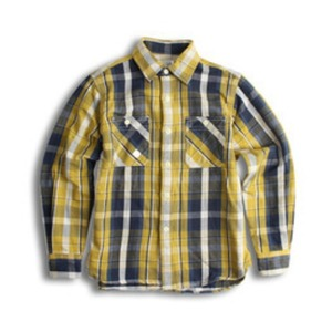 D.I.M - FLANNEL CPO SHIRT YELLOW