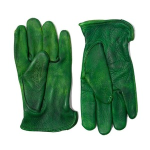AGINGCCC X CAIMAN KOREA - HAND DYEING DRIVERS GLOVES-GREEN