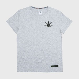 [모빈스알 반팔티셔츠] MOVINS.R - TAP(Take a Peep) SHORT GREY HEATHER
