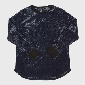 [모빈스알 티셔츠] MOVINS.R - AXIO DARK MOON VELVET TOP CHACOL