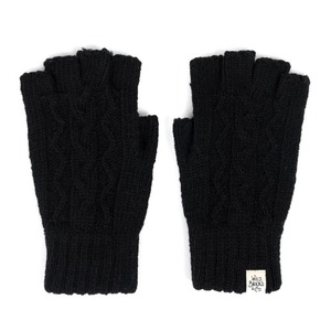 WILDBRICKS - CABLE FINGERLESS GLOVES (black)