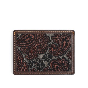WILDBRICKS - PAISLEY CARD CASE (brown)