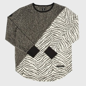 [모빈스알 티셔츠] MOVINS.R - AXIO DARK MOON DIAGONAL BLACK TIGER TOP