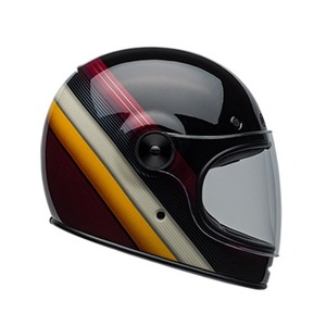 BELL - BULLITT  BURNOUT BLACK/WHITE/MARRON