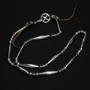[헬도라도 목걸이] Helldorado - Silver Hairpipe Beads Necklace