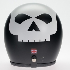 Davida Speedster Matt Black White Skull