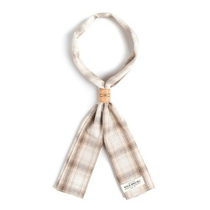 WILDBRICKS - LPT CHECK SCARF (beige)