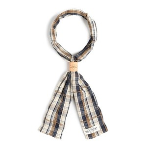 WILDBRICKS - OV CHECK SCARF (navy)