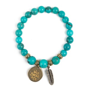 [와일드브릭스 원석팔찌] WILDBRICKS - WB GEMSTONE BRACELET (aqua)