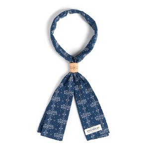WILDBRICKS - FL DOT SCARF (navy)