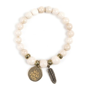 [와일드브릭스 원석팔찌] WILDBRICKS - WB GEMSTONE BRACELET (ivory)