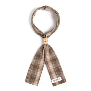 WILDBRICKS - LPT CHECK SCARF (brown)