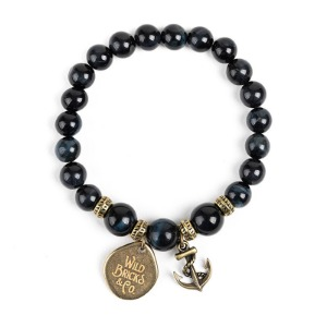 [와일드브릭스 원석팔찌] WILDBRICKS - WB GEMSTONE BRACELET (navy)