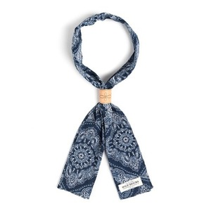 WILDBRICKS - TWO-TONE PAISLEY SCARF (navy)