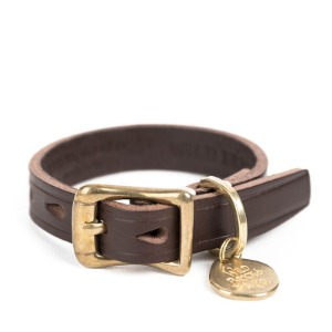 [와일드브릭스 브라이슬렛] WILDBRICKS - CB BRASS LEATHER BRACELET (dark brown)