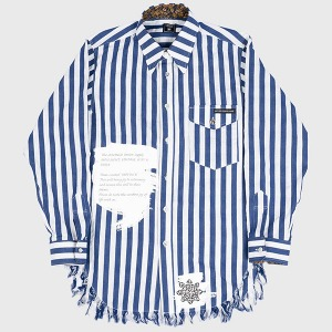 [모빈스알 셔츠] MOVINS.R - GRUS BLUE STRIPE SHIRT