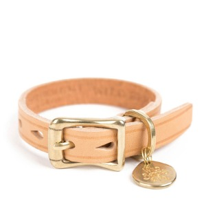 [와일드브릭스 브라이슬렛] WILDBRICKS - CB BRASS LEATHER BRACELET (beige)