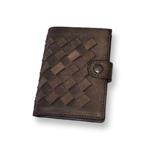 [쿄레프로젝트 카드지갑] KJøRE PROJECT - ICLUTCH WALLET BRAID RUSSET BROWN