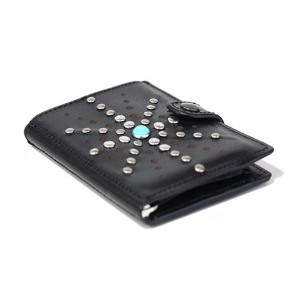[쿄레프로젝트 카드지갑] KJøRE PROJECT - ICLUTCH WALLET ROSE STUDS BLACK