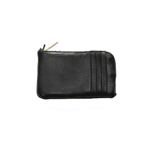 [쿄레프로젝트 카드지갑] KJøRE PROJECT - PHONE/CARDS CLUTCH WALLET  DEERSKIN-BLACK [LIMITED]