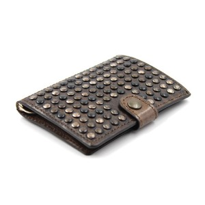 [쿄레프로젝트 카드지갑] KJøRE PROJECT - ICLUTCH WALLET STUDS BROWN