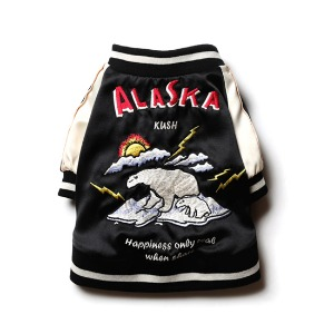 [KUSH 강아지 스카쟌] KUSH DOG - Souvenir ALASKA Jacket / Black