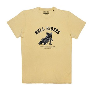 [헬스톤 티셔츠] HELSTONS - T-SHIRT  CHEVIGNON HELL YELLOW