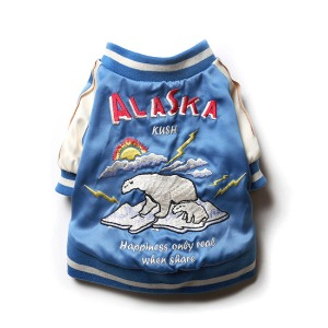 [KUSH 강아지 스카쟌] KUSH DOG - Souvenir ALASKA Jacket / Blue