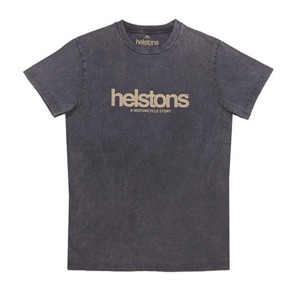 [헬스톤 티셔츠] HELSTONS - T-SHIRT  CORPORATE BLACK