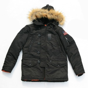 [쇼트뉴욕 항공점퍼] SCHOTT N.Y.C - N4B Slim Fit Parka - Black