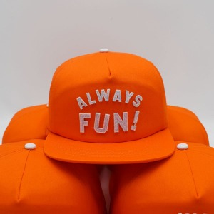 [인다이스 스냅백] INDICE - ALWAYS FUN CAP / ORANGE