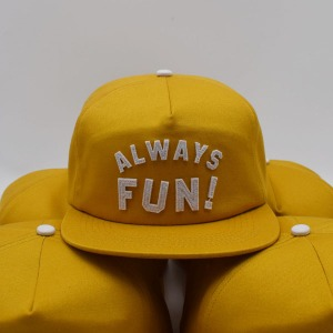[인다이스 스냅백] INDICE - ALWAYS FUN CAP / YELLOW