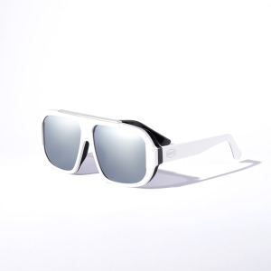 [인다이스 윈드 블럭 미러 선글라스] INDICE - WIND BLOCK SUNGLASSES / BLACK-WHITE&MIRROR