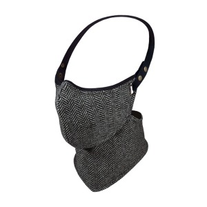 [레어 버드 런던 마스크] RARE BIRD LONDON - BLACK AND WHITE HERRINGBONE TWEED FACE MASK[WINTER]