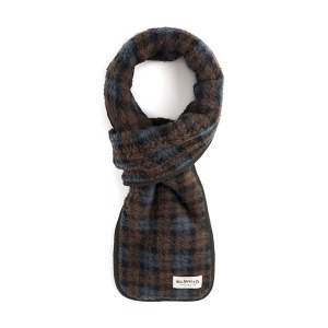 [와일드브릭스 스톨] WILDBRICKS - TARTAN CHECK FLEECE STOLE (brown)
