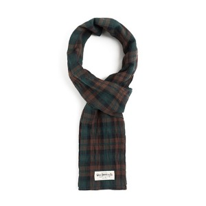 [와일드브릭스 스톨] WILDBRICKS - BG TARTAN CHECK STOLE (brown)