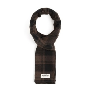 [와일드브릭스 스톨] WILDBRICKS - BNB TARTAN CHECK STOLE (black)